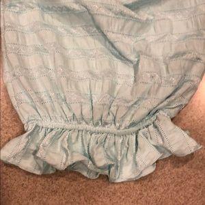 cach cach One Pieces - 0-3 mos cachcach aqua bunting gown nwt